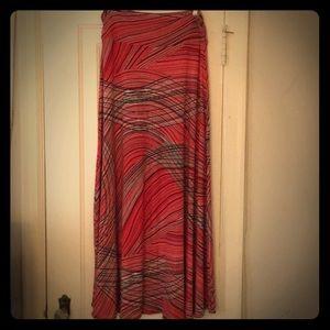 Colorful full length skirt